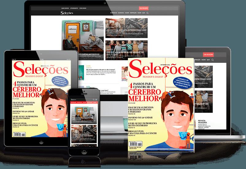 Revista Impressa + Revista Digital + Site Seleções
